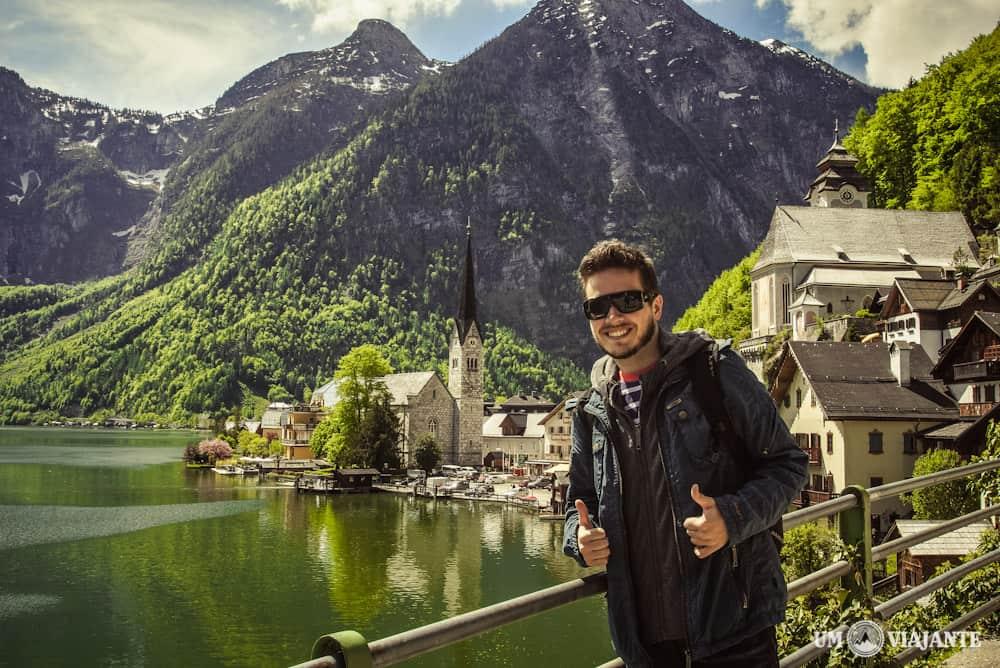 Um viajante em Hallstatt