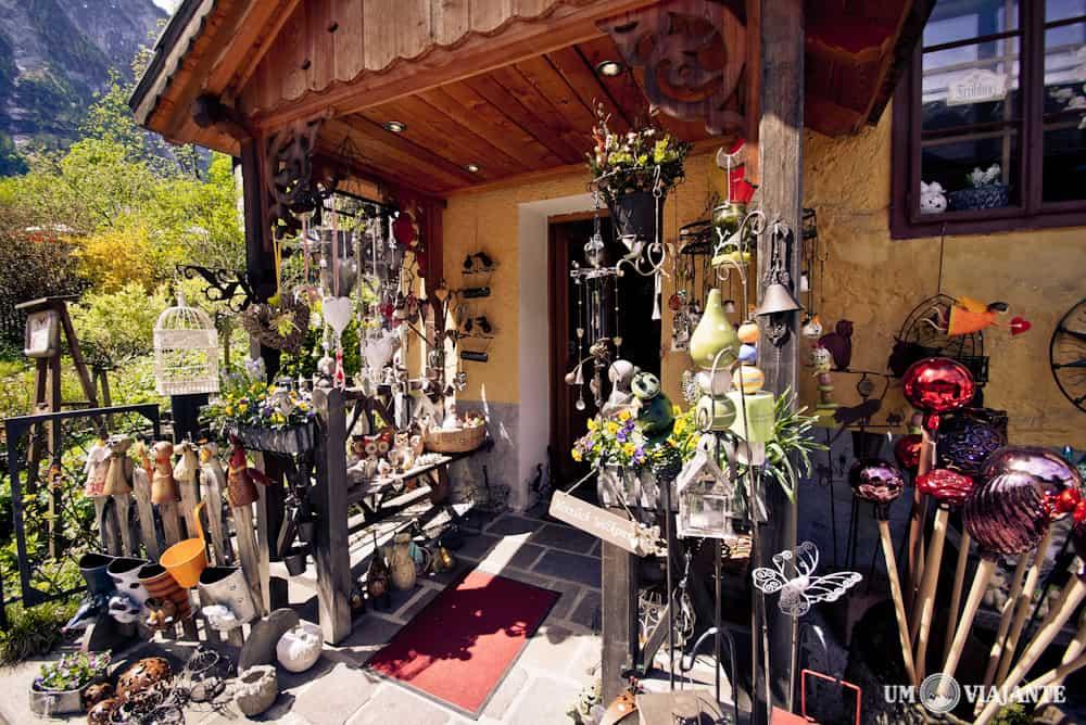 Loja de lembranças em Hallstatt
