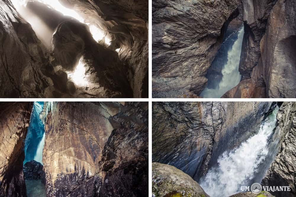Trummelbach Falls, Cachoeiras subterrâneas na Suíça