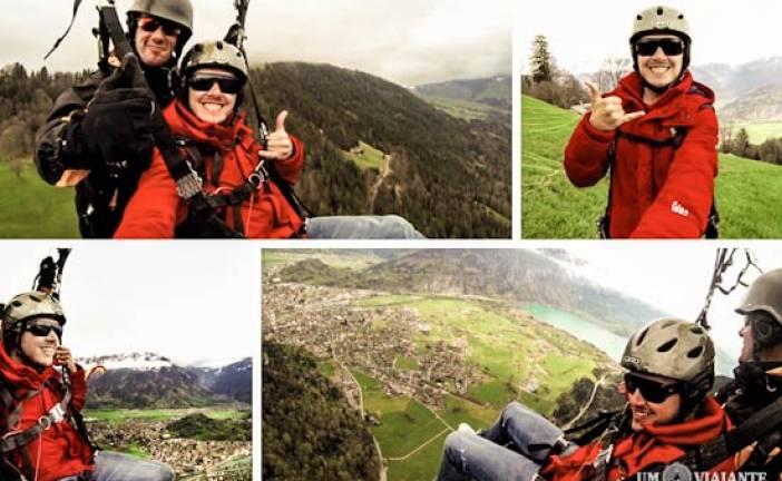 Voo de paraglider em Interlaken