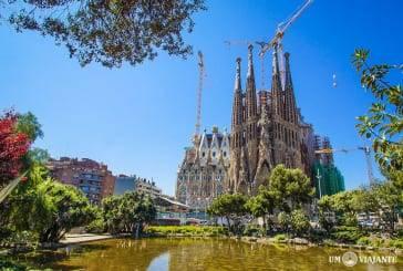 Visitando a Sagrada Família, em Barcelona