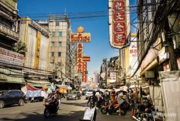Chinatown e o Templo do Buda de Ouro, em Bangkok