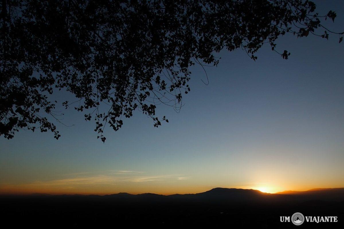 Pôr do sol em Santiago, Cerro San Cristóbal