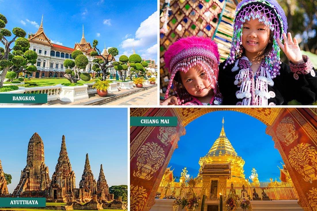 Bangko, Chiang Mai e Ayutthaya