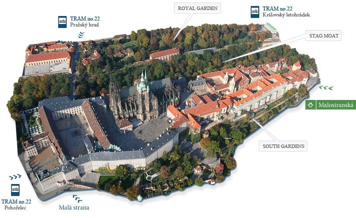 Mapa do Castelo de Praga