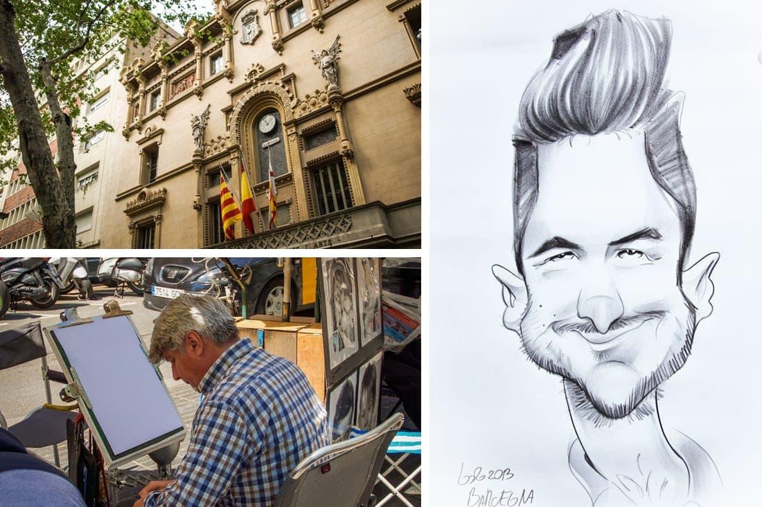 Caricatura, Rambla - Barcelona