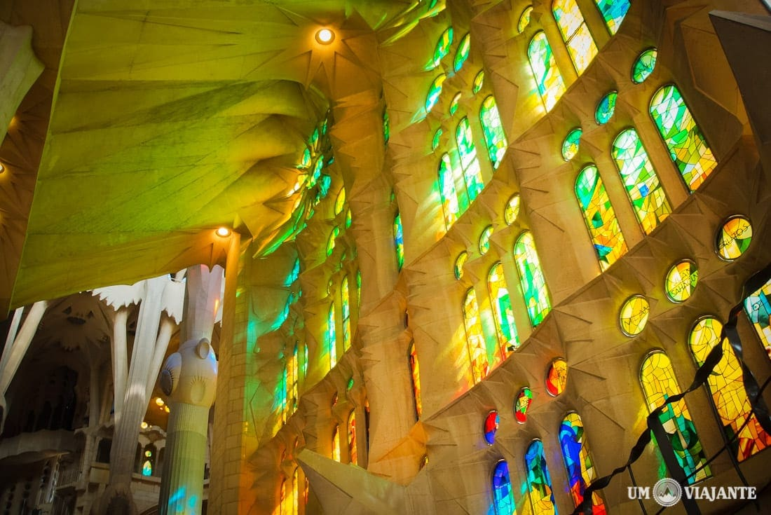 Vitrais da Sagrada Família, em Barcelona