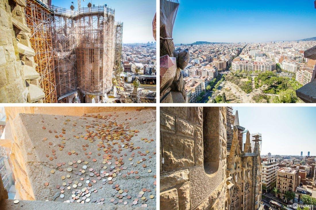 Visto de uma das torres da Sagrada Família