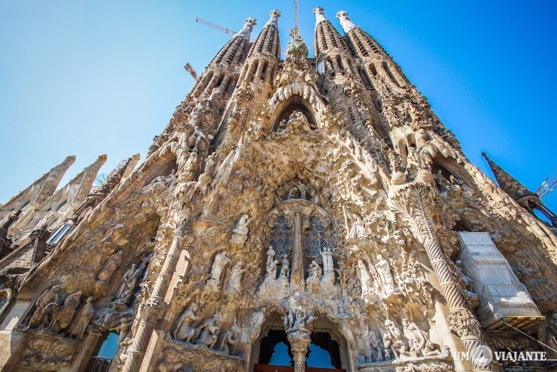 Uma das entradas da Sagrada Família, em Barcelona