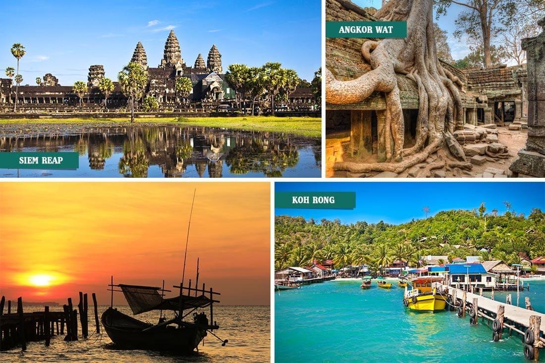 Siem Reap, Angkor Wat e Koh Rong