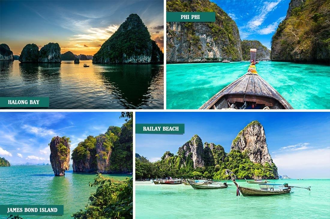 Vietnã e Tailândia
