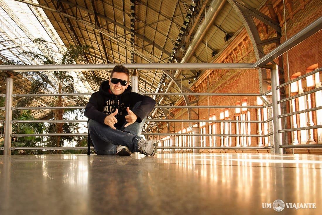 Um Viajante na Estação Atocha, em Madrid
