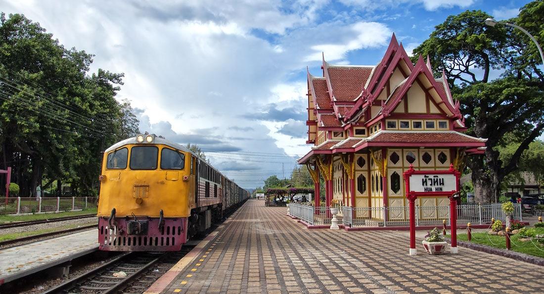 Estação de Trem no Sudeste Asiático