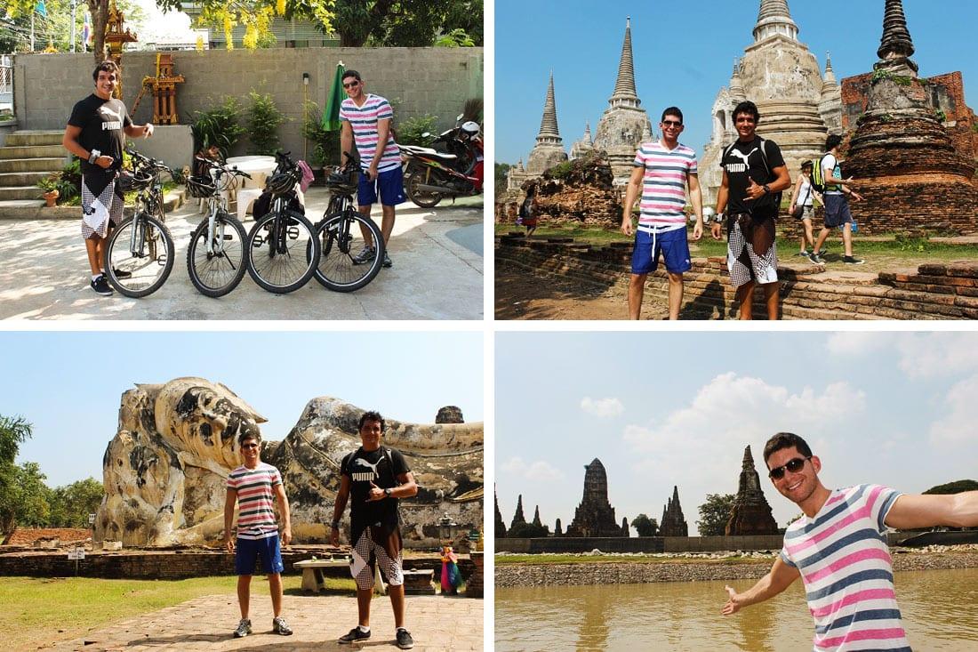 Meu amigo Felipe em Ayutthaya