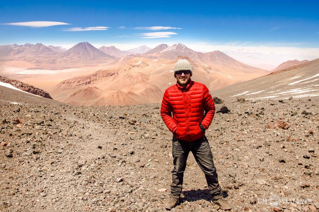 Subindo o Vulcão Lascar, no Atacama