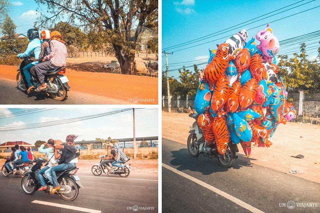 Estradas no Camboja