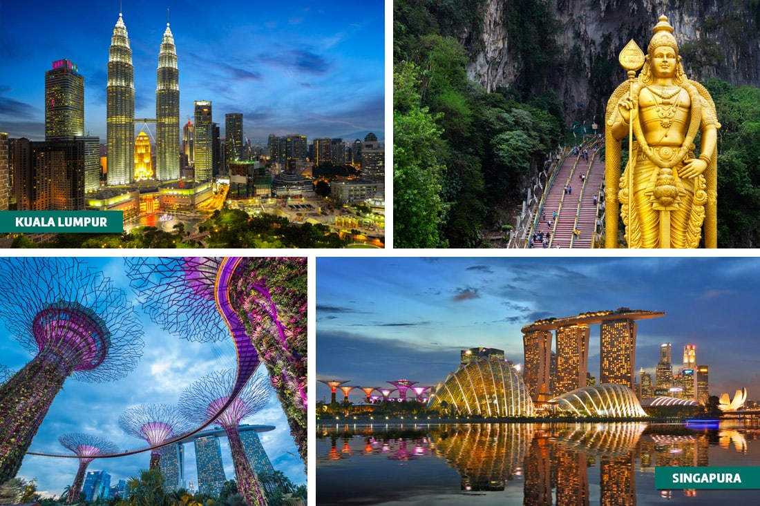 Kuala Lumpur e Singapura