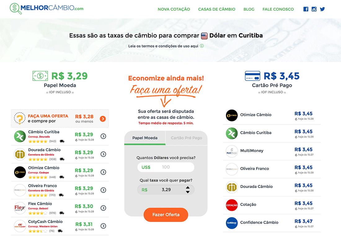 Melhor Câmbio - Dólar