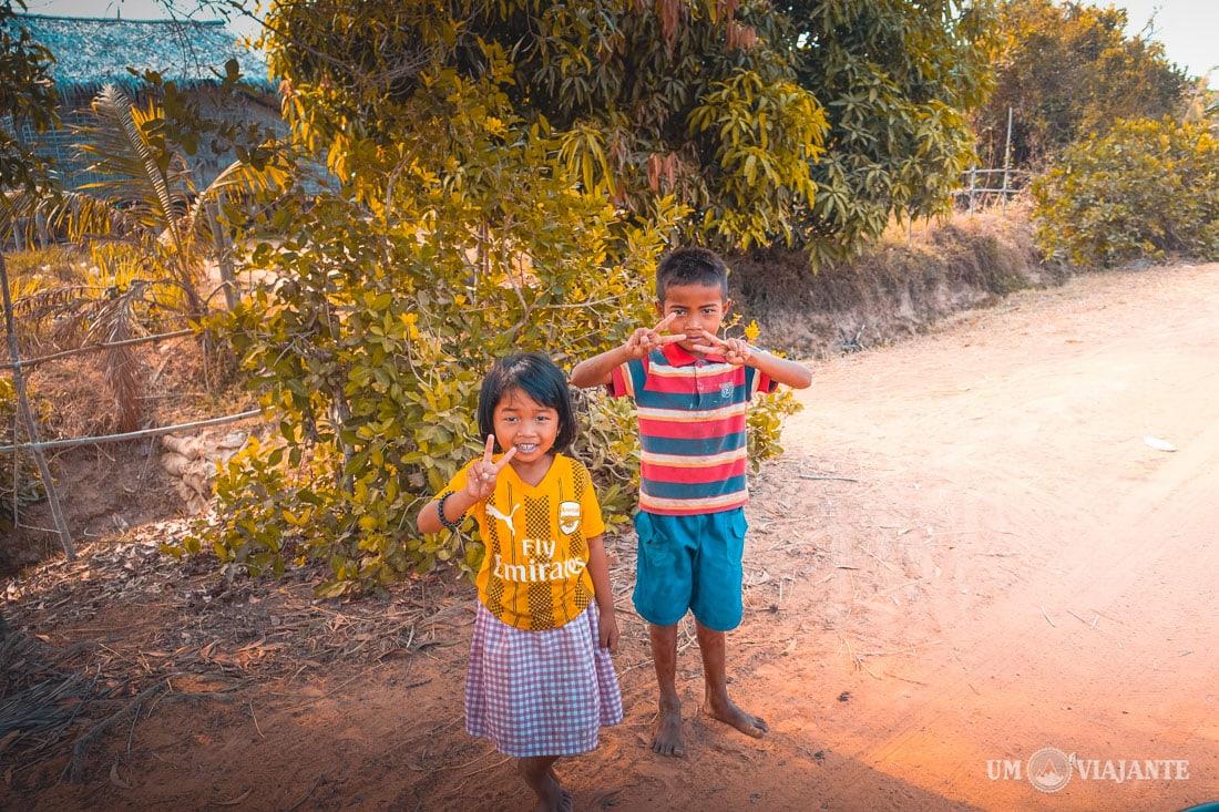 Vilarejos no Camboja