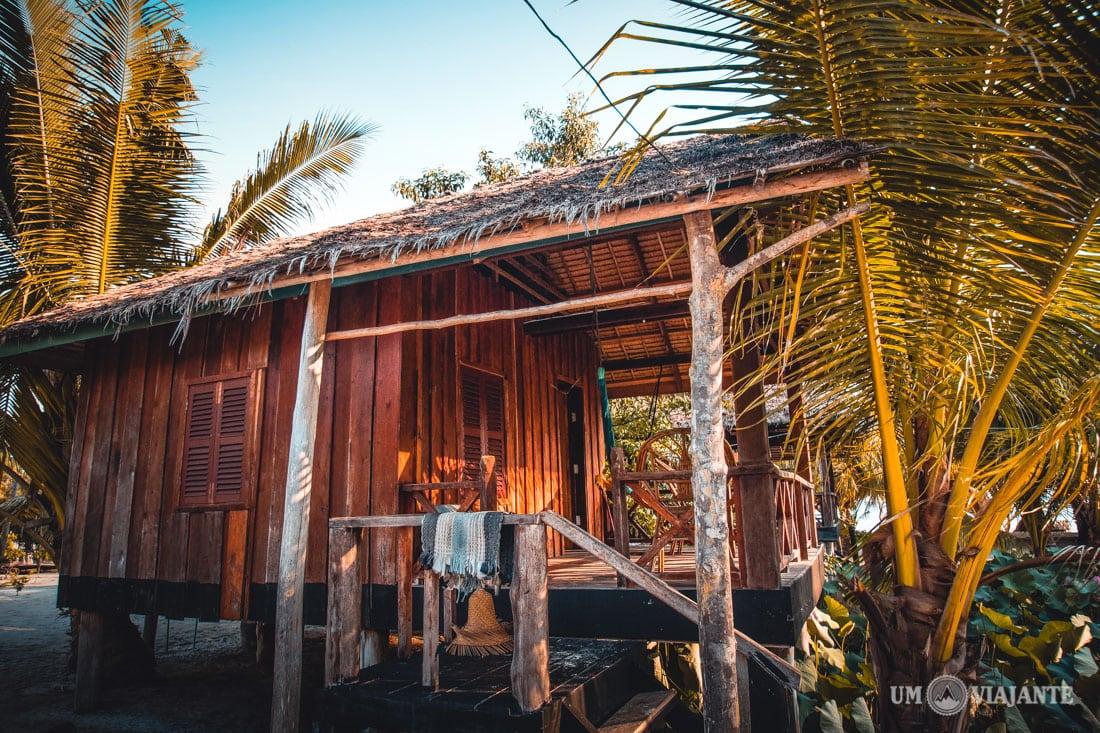 Meu bangalô no Palm Beach Resort, Koh Rong - Camboja