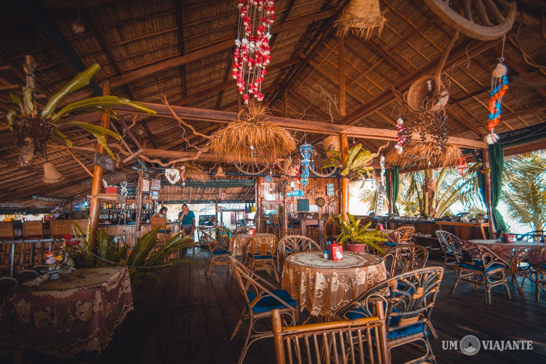 Restaurante do Palm Beach Resort, Koh Rong - Camboja