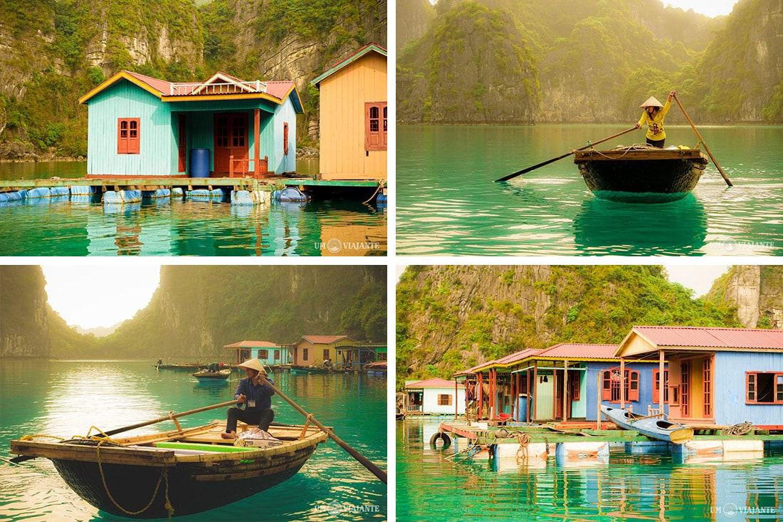 Vila Flutuante de Pescadores, Halong Bay - Vietnã