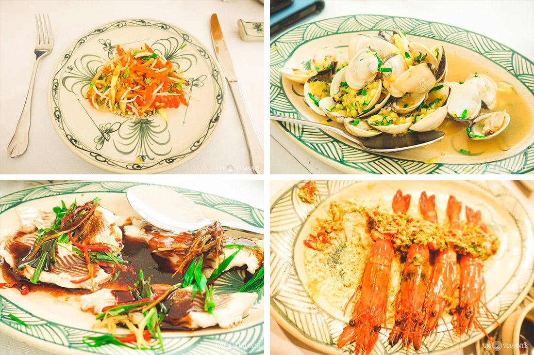 Alimentação no cruzeiro - Halong Bay
