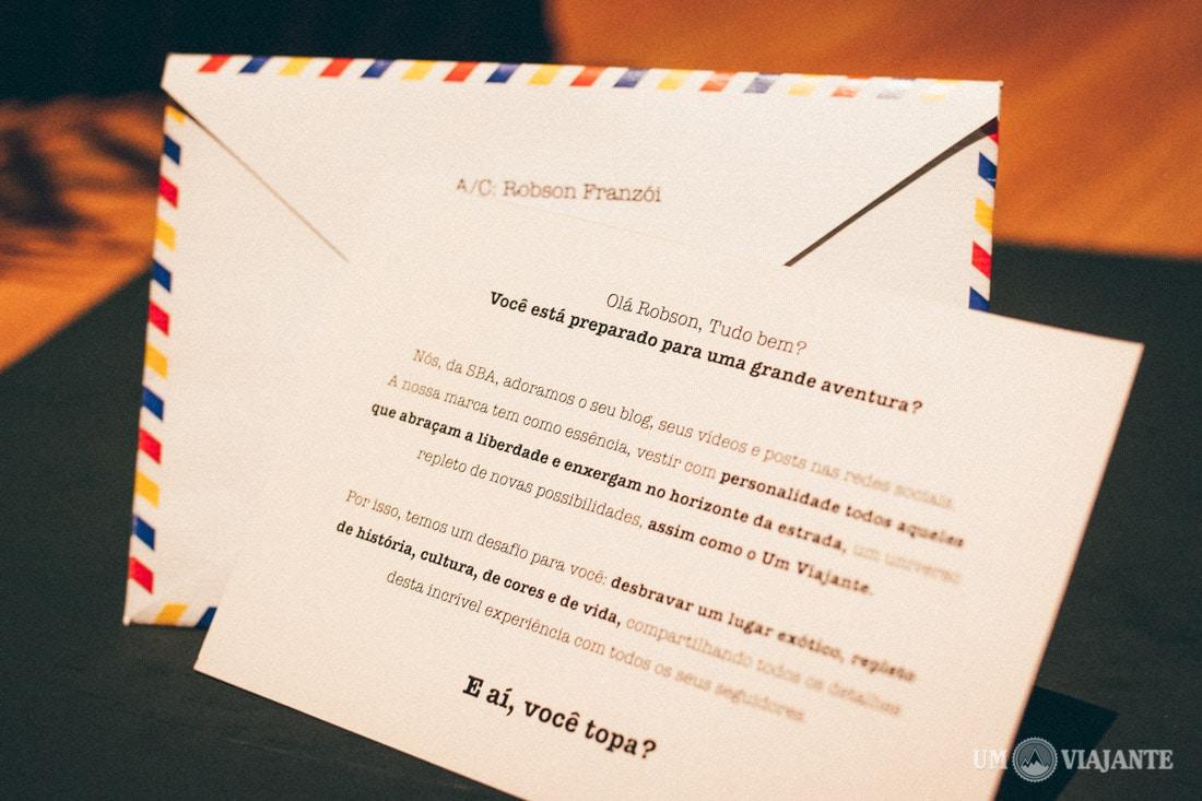 Carta Convite SBA - Um Viajante