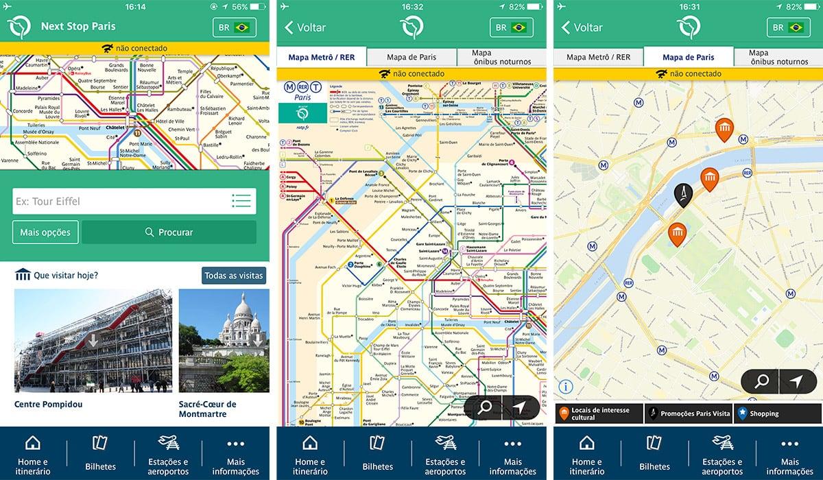 Aplicativo Metrô Paris