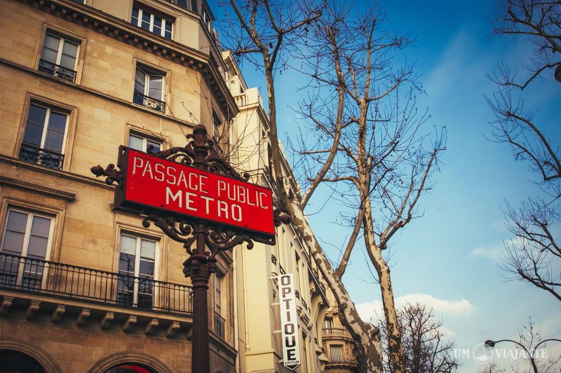 Como andar no metrô de Paris