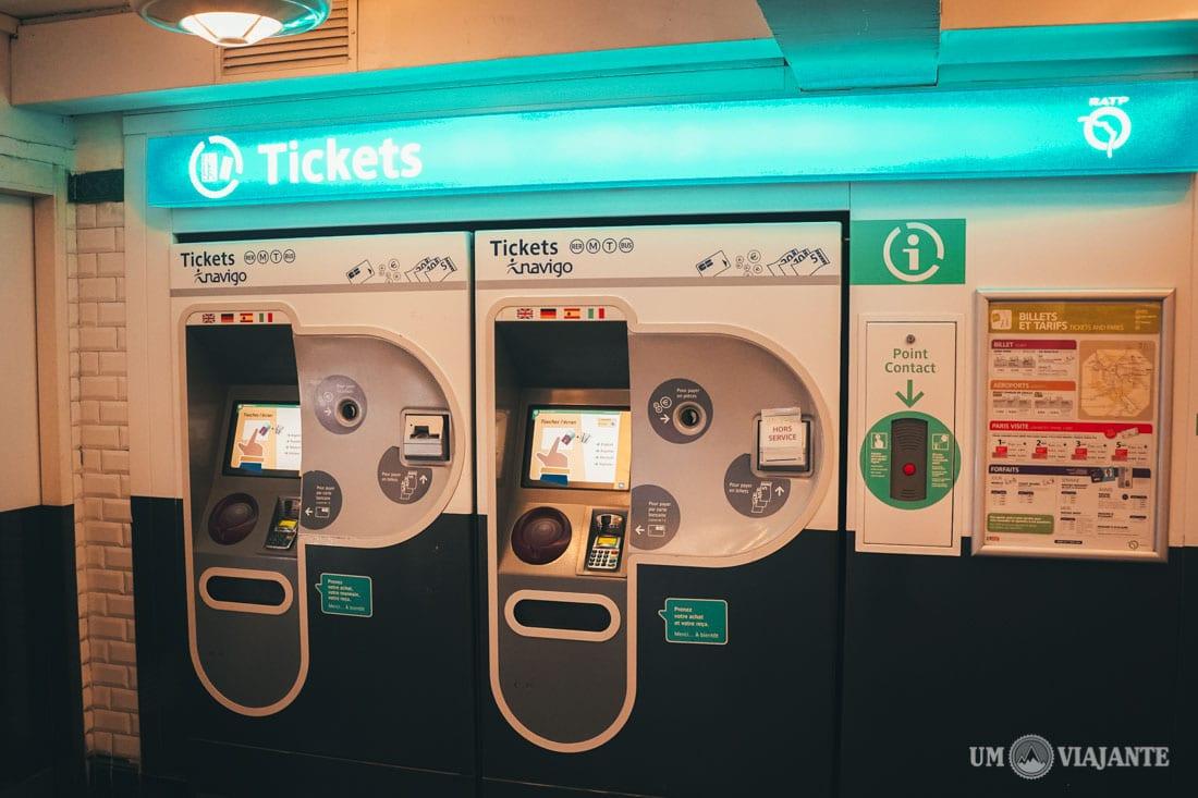Comprar ticket metrô de Paris