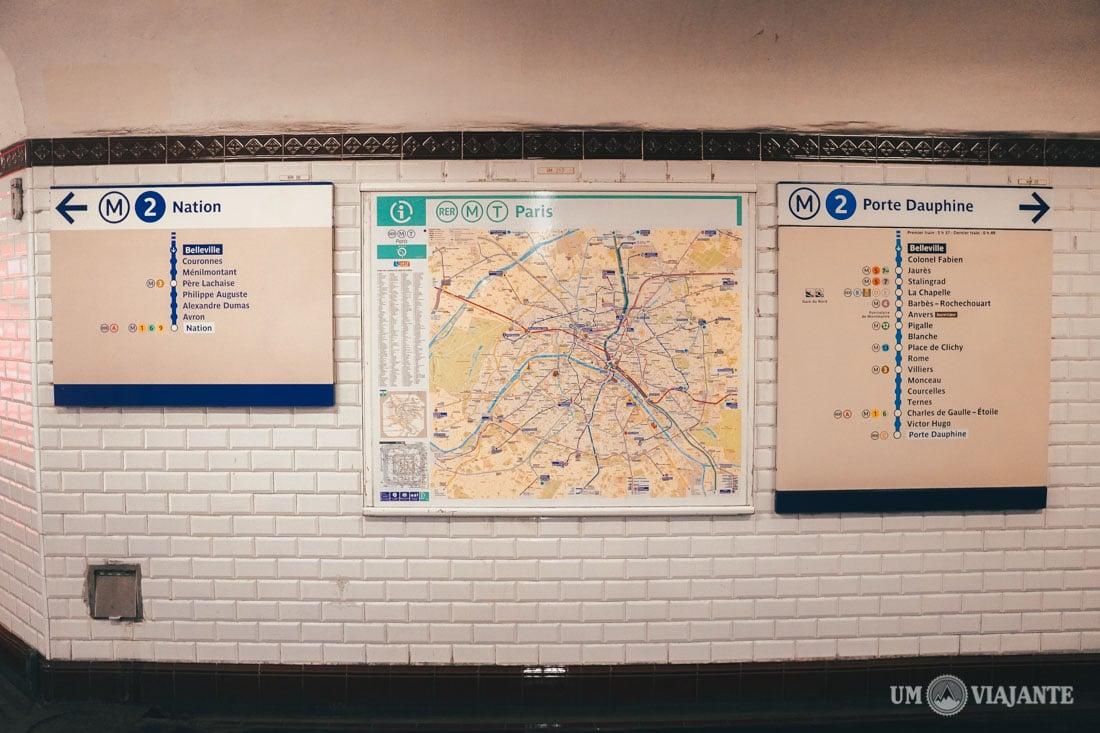 Estação de Metrô de Paris