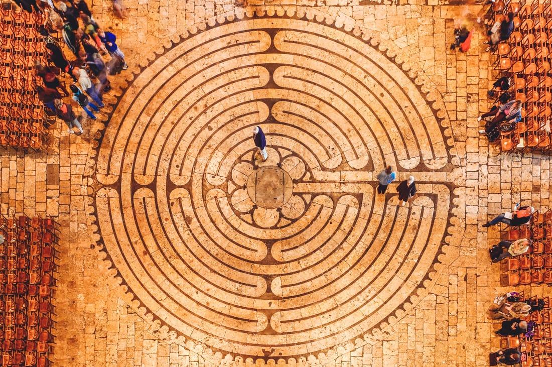 Labirinto, Catedral de Chartres, França