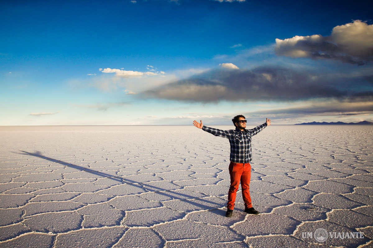Um Viajante Salar de Uyuni, Bolívia