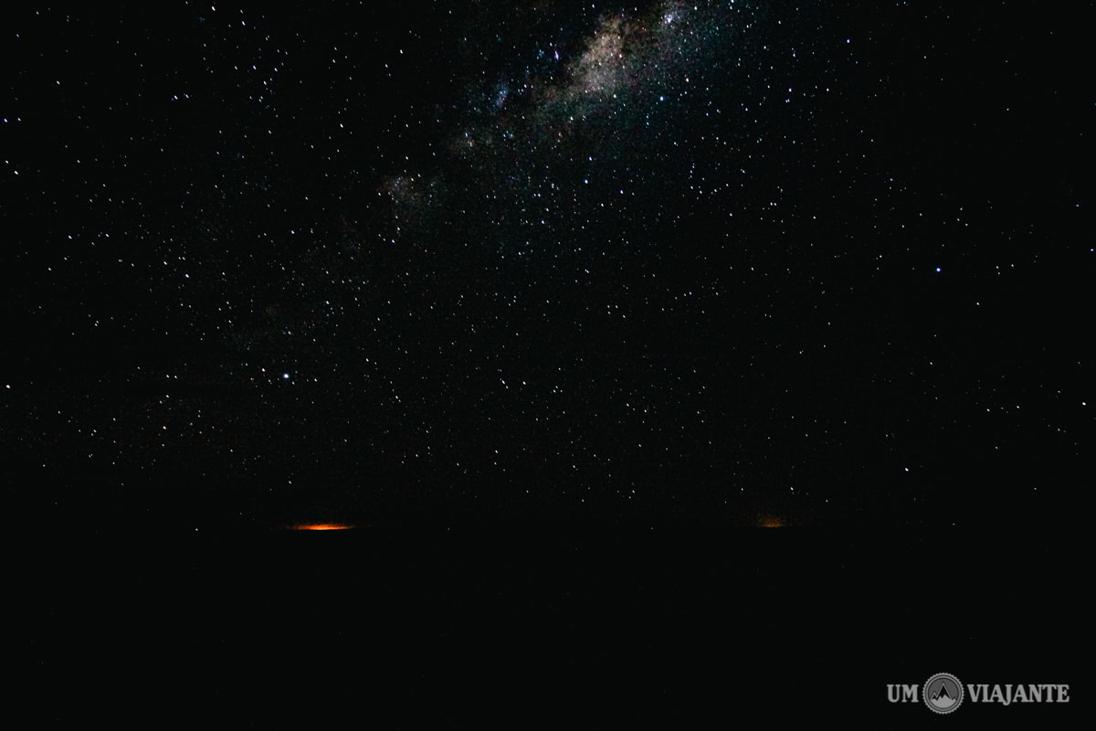 Estrelas no Salar de Uyuni, Noite, Bolívia