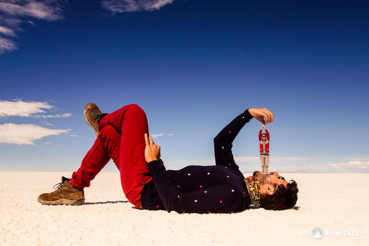 Fotos criativas no Salar de Uyuni