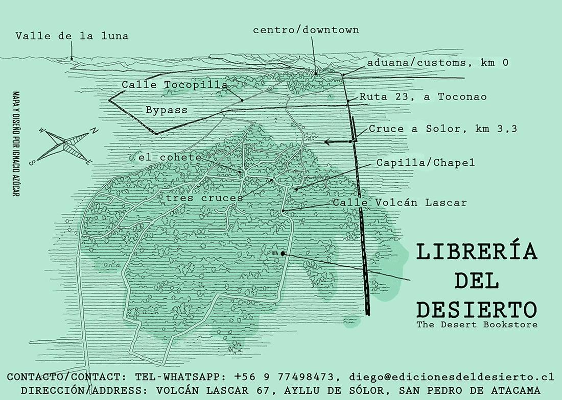 Mapa Livraria do Deserto - Atacama, Chile