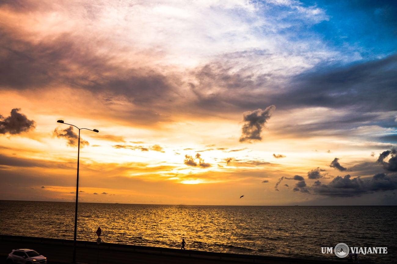 Pôr do Sol em Cartagena, Mar do Caribe