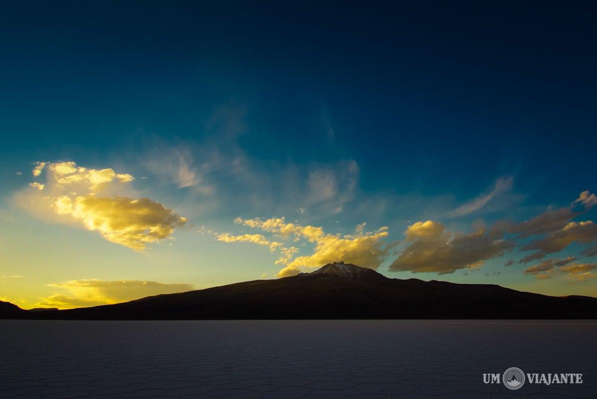 Pôr do sol no Salar de Uyuni, Bolívia