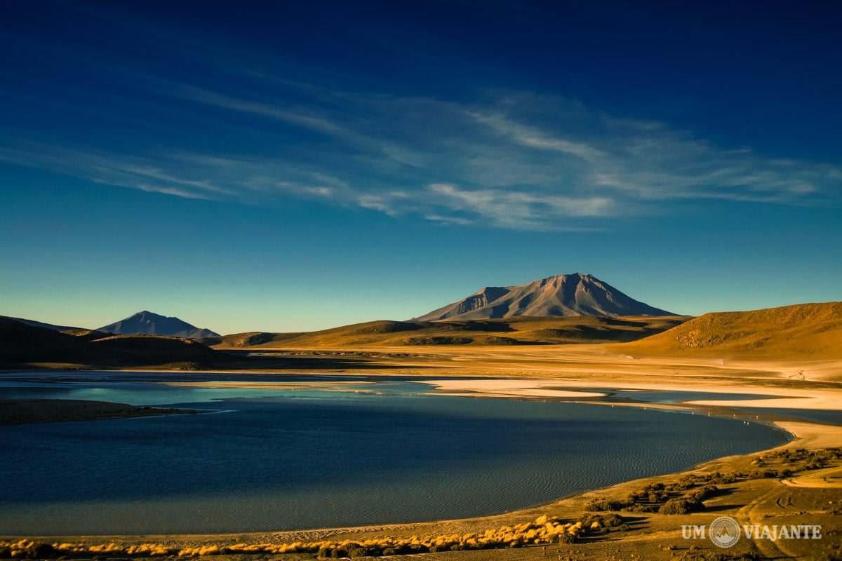 Lagunas altiplânicas na Bolívia