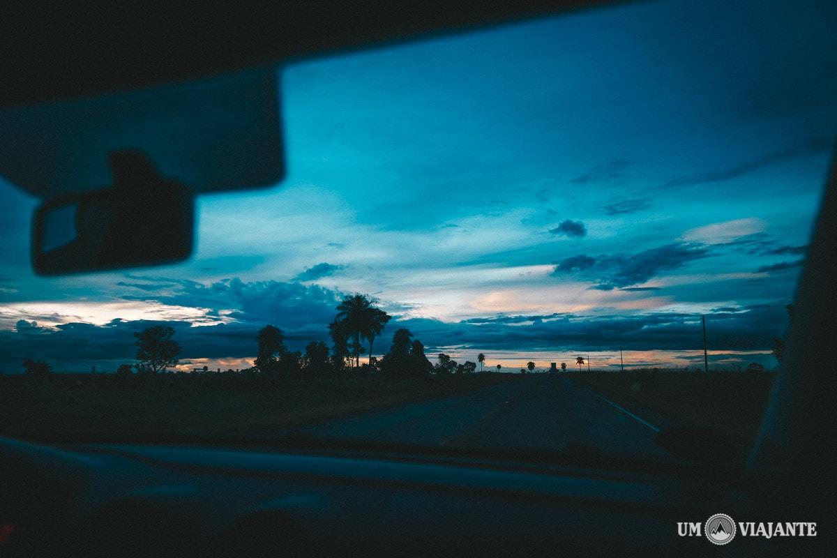 O céu que me recebeu em Bonito, MS