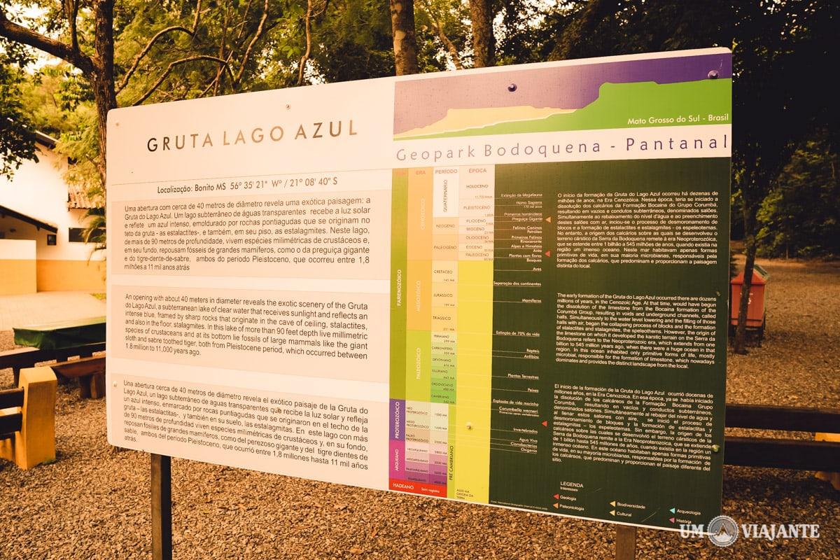 Gruta Lago Azul - Bonito - Informações