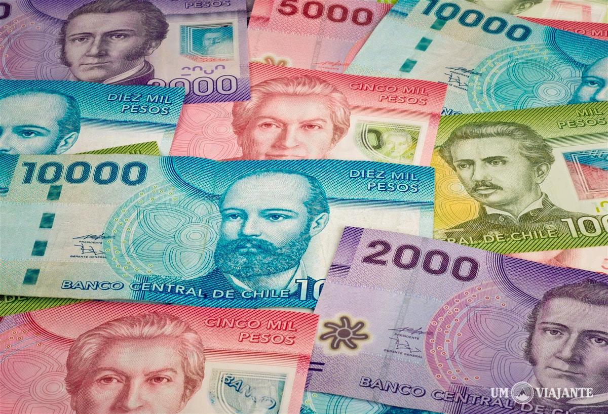 Câmbio em Santiago: pesos chilenos