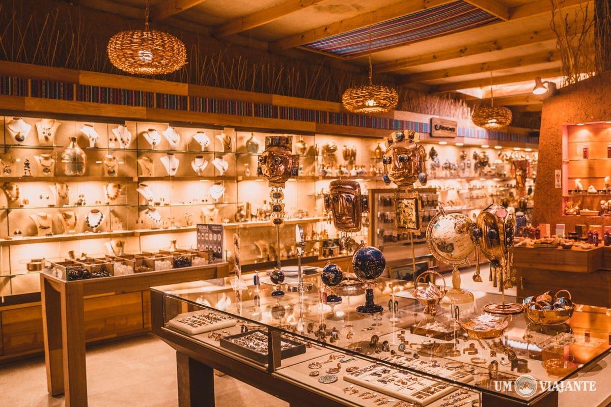 As boutiques de luxo no Atacama