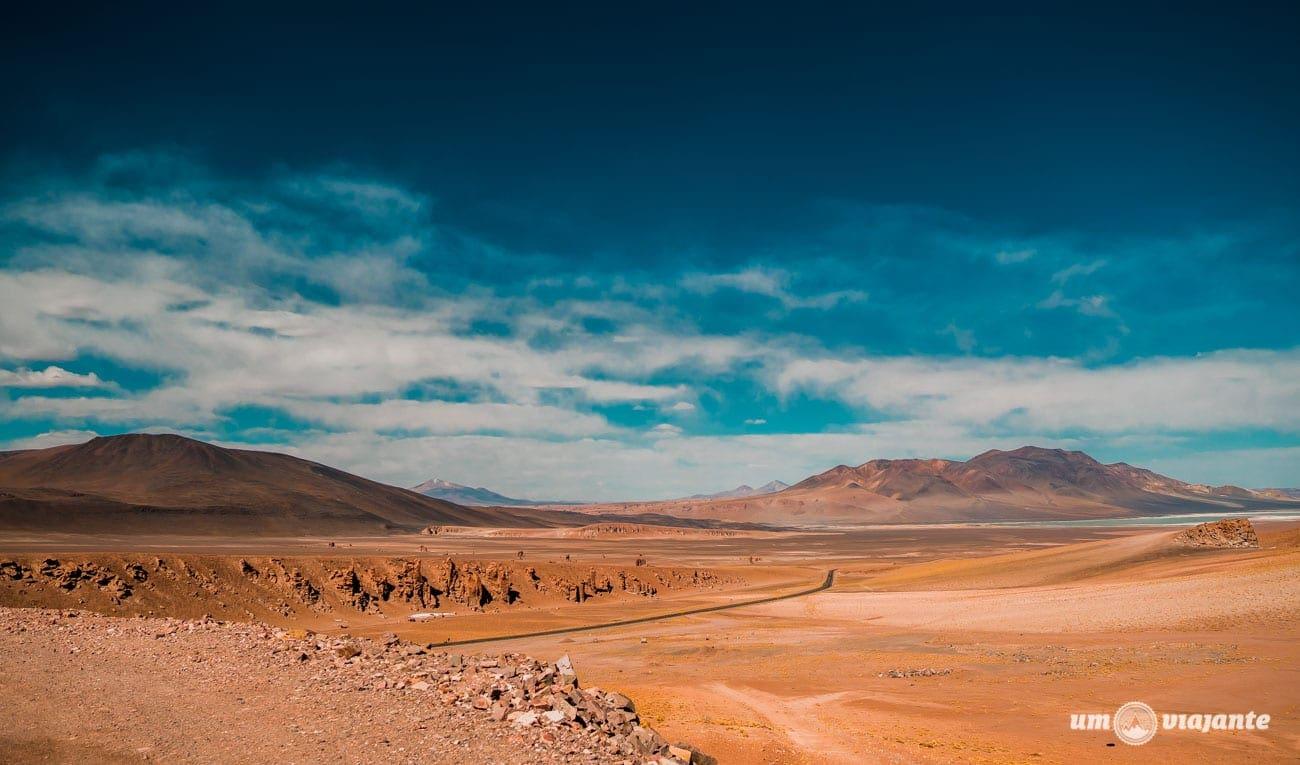 Caminho para o Salar de Tara - Deserto do Atacama, Lagunas Andinas
