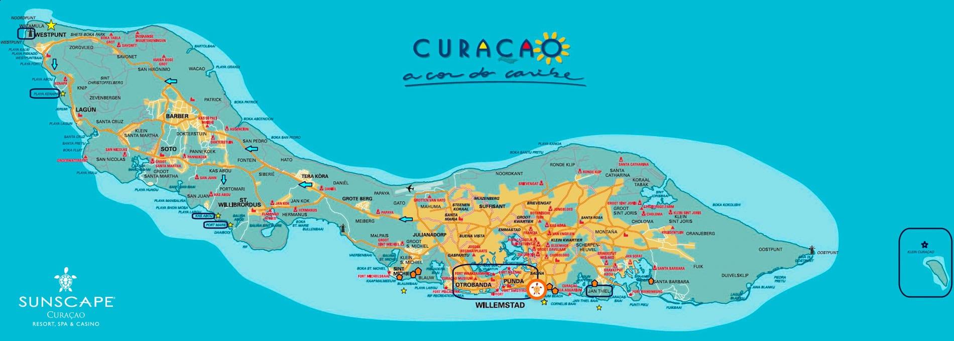 Mapa Sunscape Curaçao