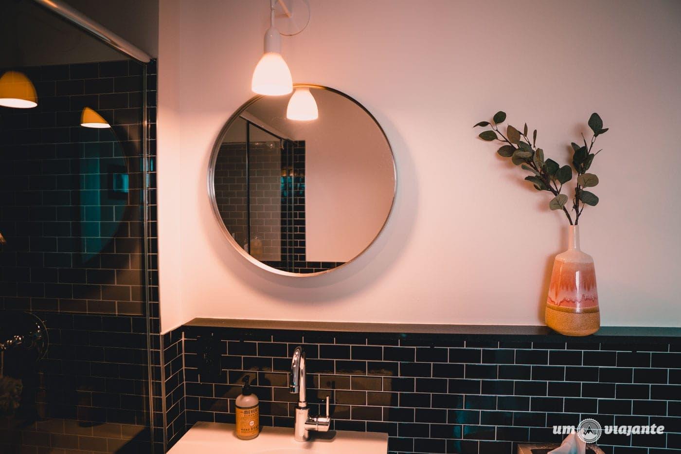 Banheiro do Airbnb