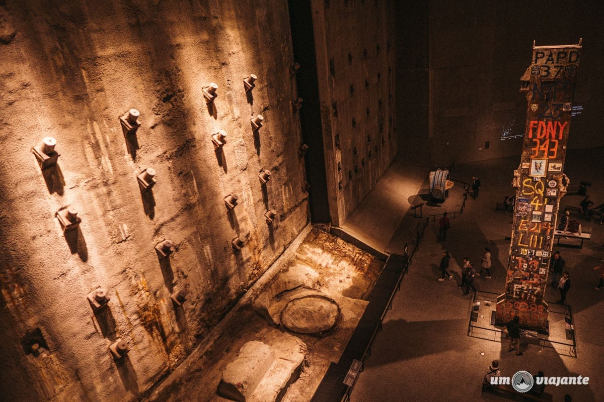 Parede Diafragma - Museu do 11 de Setembro em Nova York