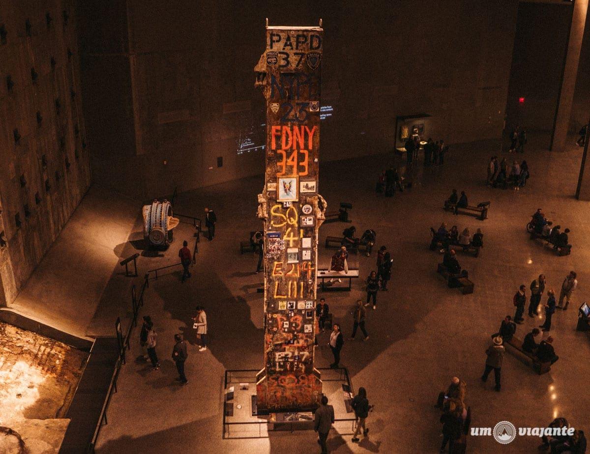 Última Coluna - Museu do 11 de Setembro em Nova York