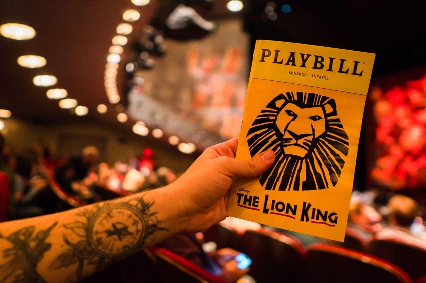 Musical do Rei Leão, na Broadway - Nova York